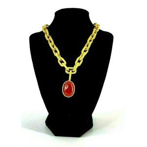 """Vintage Marla Buck Chunky Chain Link Necklace 15"""""""